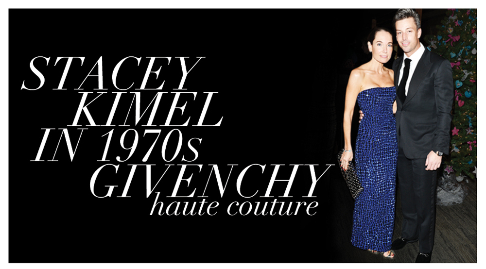 Stacey Kimel in 1970s Haute Couture Givenchy