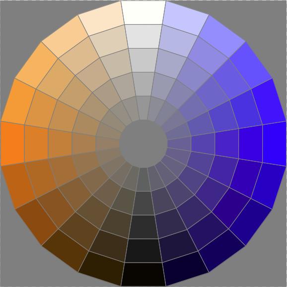 arancione-blu