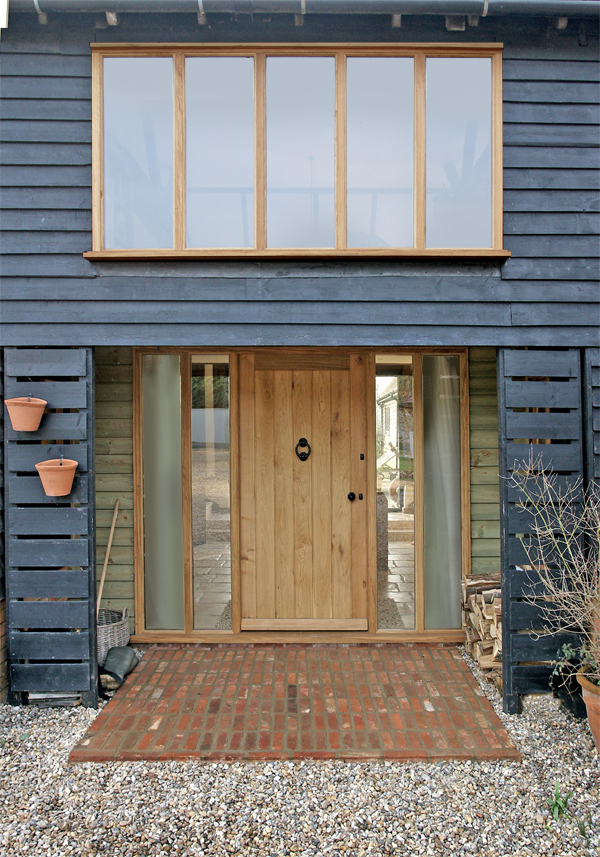 Orlestone oak flooring joinery and projects oak windows for Barn style front door