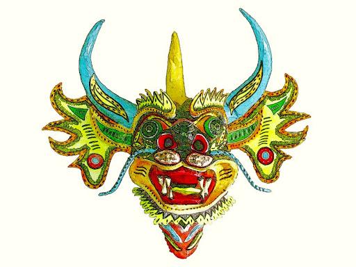 Máscara de Capataz de los Diablos Chief Devil San Francisco de Yare Municipio Simón Bolivar Estado Miranda, Venezuela