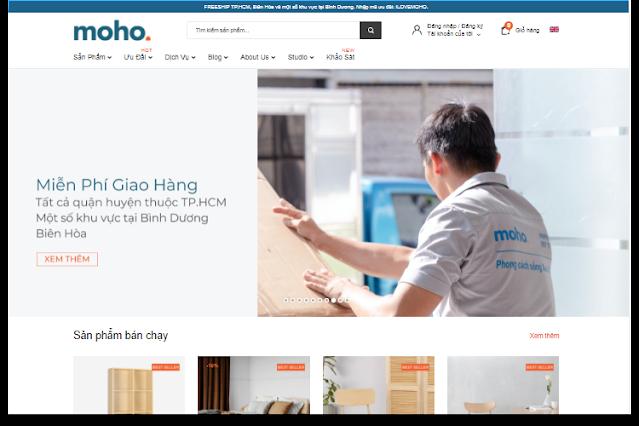 Web mẫu website bán nội thất