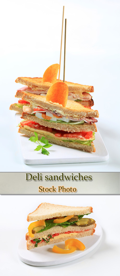 Stock Photo: Deli sandwiches