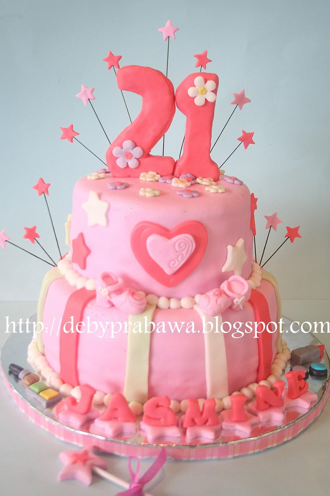 21st Birthday Cake For Jasmine