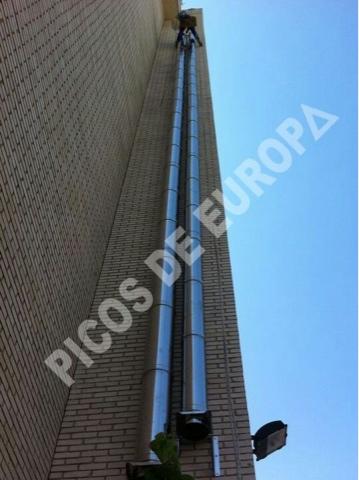 Chimeneas picos de europa chimeneas de evacuaci n humos for Estufas de pellets con salida de humos lateral