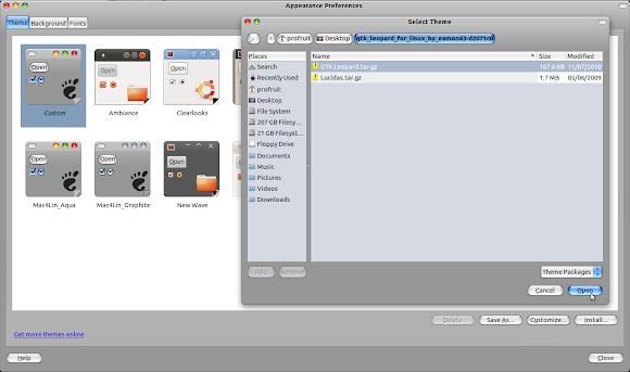 GTK Leopard Ubuntu