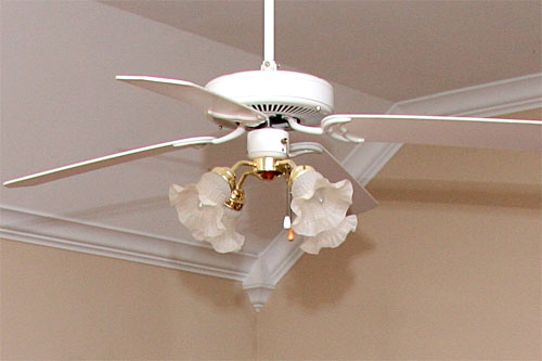 The redheaded stepchild diy ceiling fan update 15 november 2011 aloadofball Image collections
