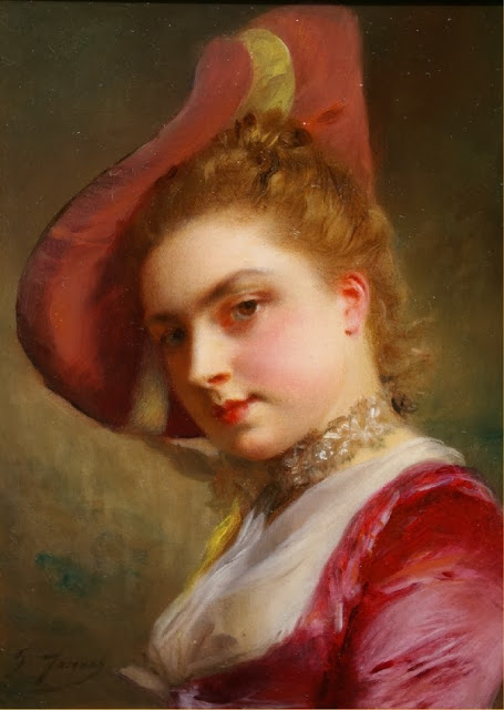 Gustave Jean Jacquet - An Admiring Expression