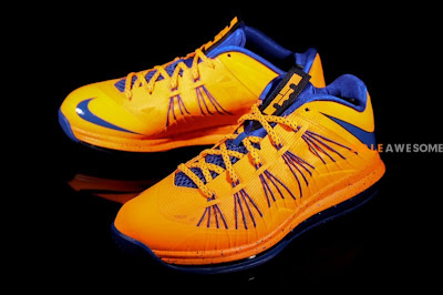 nike lebron 10 low gr orange blue 2 06 Nike Air Max LeBron X Low HWC (579765 800) New Photos