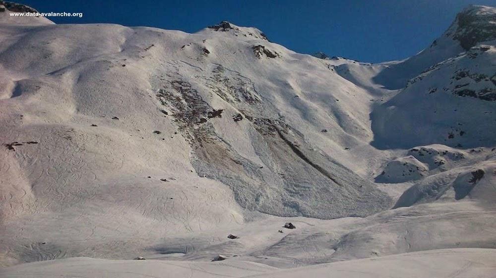 Avalanche Haute Tarentaise, secteur Val d'Isère, Arselle - Entre la piste de l'Arselle et l'itinéraire hors-piste Cugnaï - Photo 1 - © Pulcherie Emeric