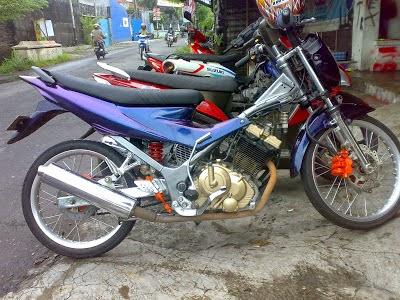 Modifikasi Road Race Honda Supra X 125