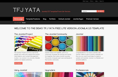Black Gray Business Jquery Joomla Theme Template
