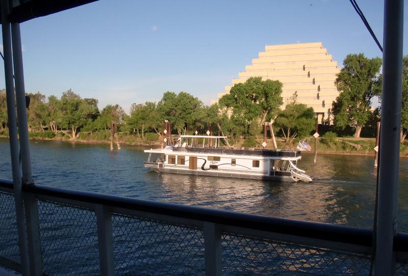 The Ziggurat Building across the river