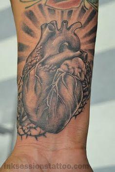 ลายสักหัวใจขาวดำ6