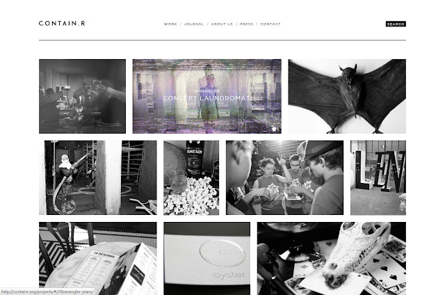 *充滿雜訊效果的灰色時尚:Contain.r Web Site 3