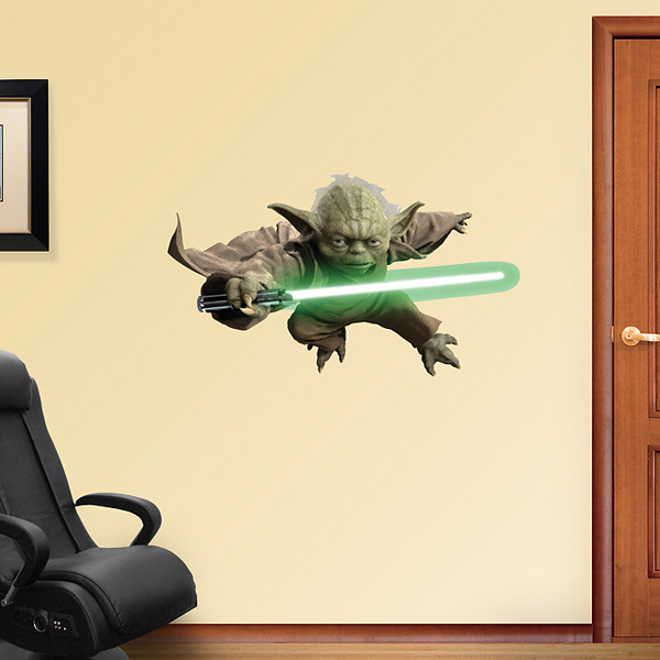 Marvelous  u udW x u udH Yoda vinyl wall decal