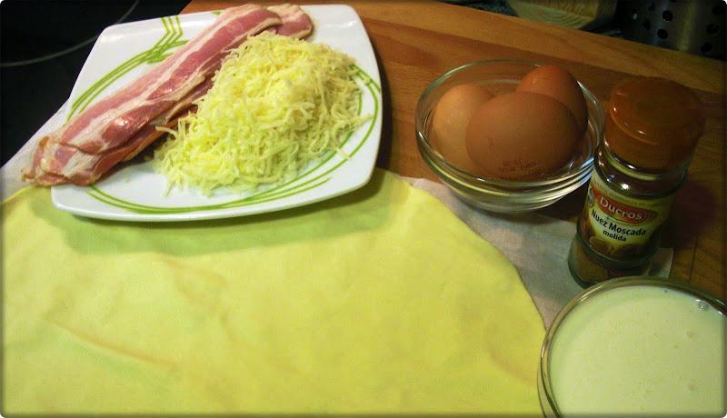 Ingredientes para quiche lorraine