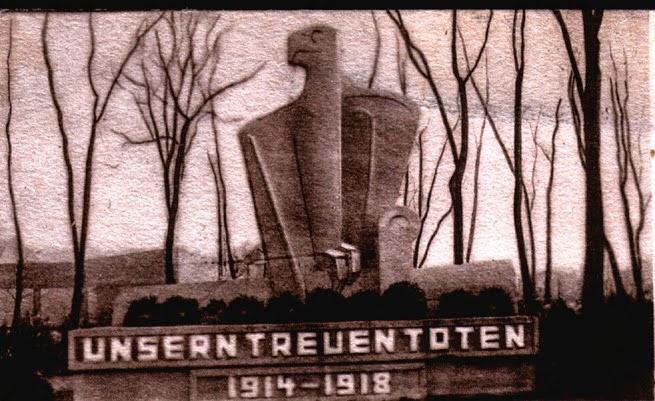 pomnik pierwszowojenny w Zdrojach, widok przedwojenny