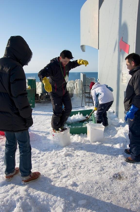 3段目以上の氷作り
