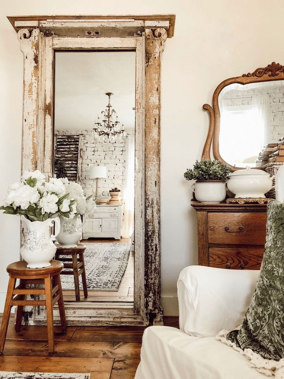Bedroom Ideas with A Shabby Chic Mirror