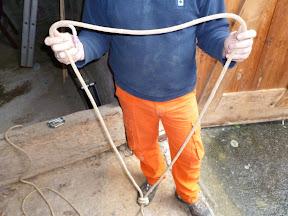 Klettergurt Ausrüstung : Abseil montage ohne spezielle bergsteige ausrüstung