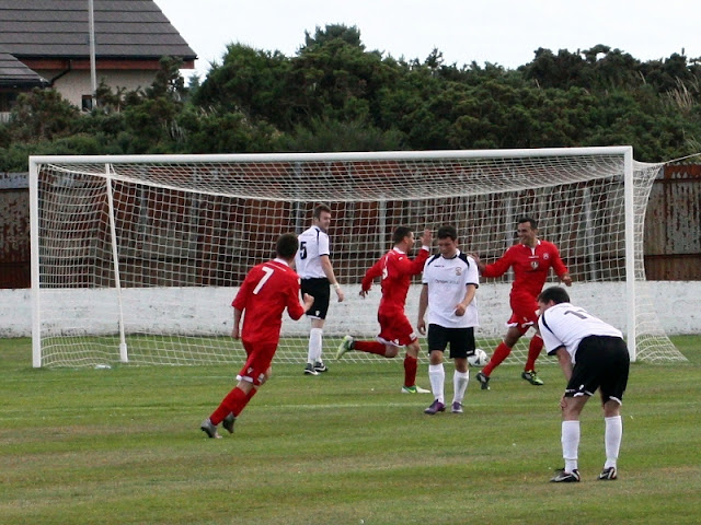 Matty Davidson scores to give Lossie the lead