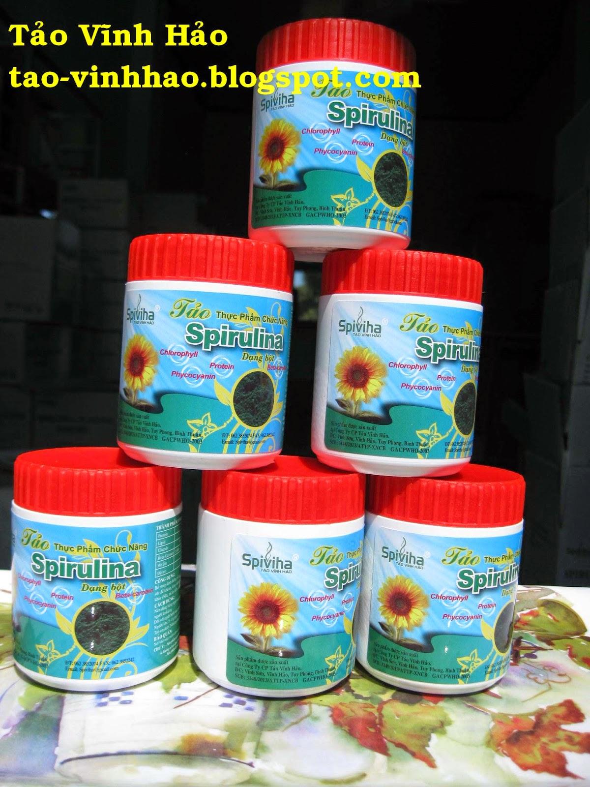 Tảo xoắn Spirulina + Tảo Vĩnh Hảo