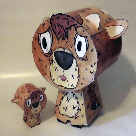 Oh Deer Paper Toy