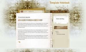 Template Notebook plantilla para blogger