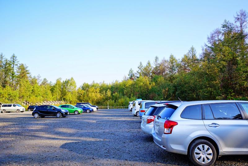 青い池 駐車場 写真1