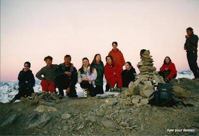Sortie à ski à Sorebois le 14 février 1998