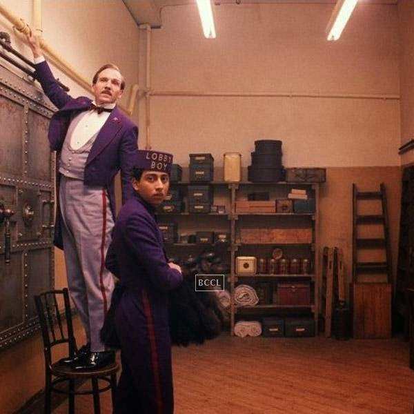 A still from the Hollywood comedy film The Grand Budapest Hotel.