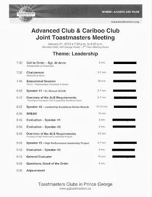 sample agendas