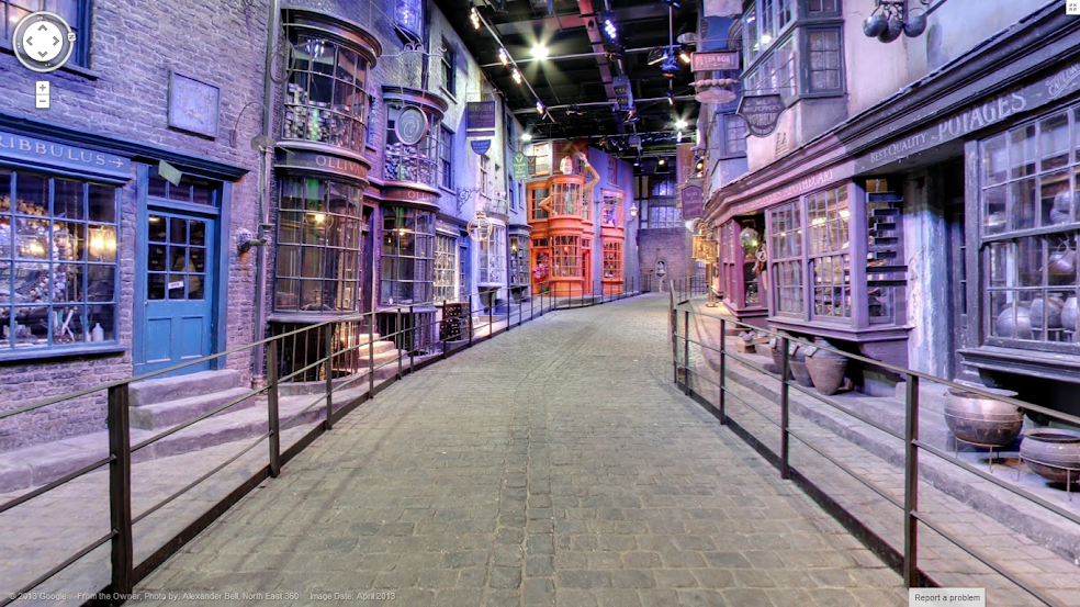 Diagon Alley in Google Maps StreetView