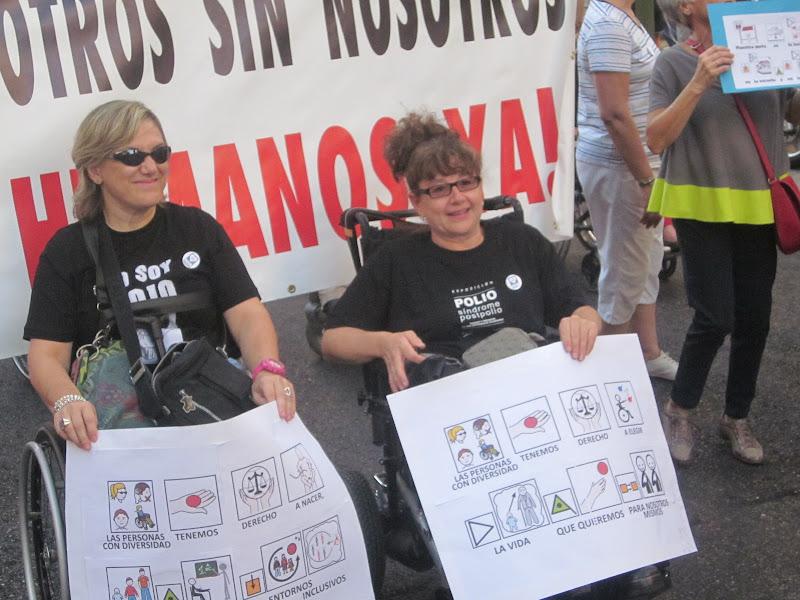 Participantes en una de las marchas
