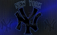 New York Yankees Logo Grid Wallpaper