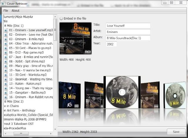 cover2 Szybkie wstawianie okładek albumów w plikach *.mp3