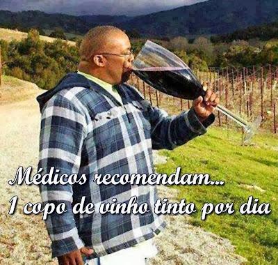 Médicos recomendam... um copo de vinho tinto por dia!!!