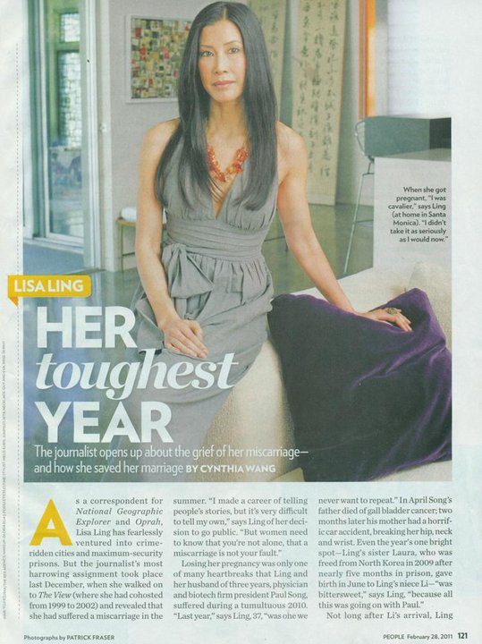 Lisa Ling Featured With Blair Necklace In People Magazine