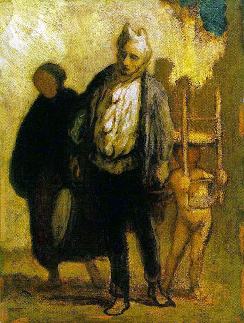Honoré Daumier - Wandering Saltimbanques