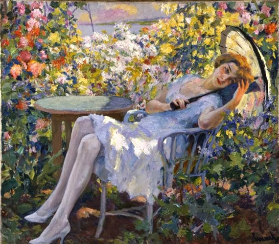 Edward Cucuel - Young Girl with a Parasol