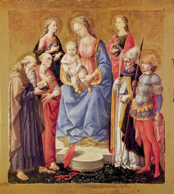 Francesco Pesellino - Virgin and Child with Six Saints