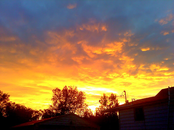 Sunset from the back yard
