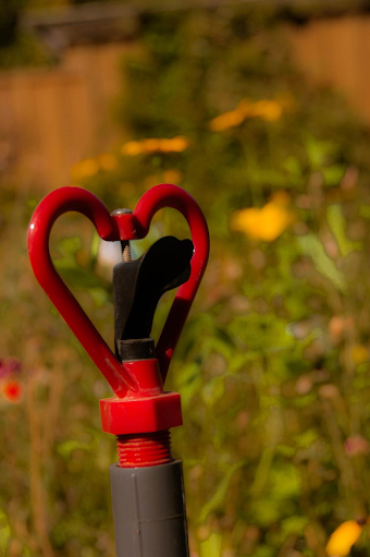 Heart-shaped garden sprinkler – submitted by Arabella Casati