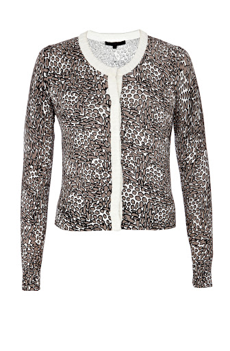 Animal Print Cotton Cardigan Top by Coast