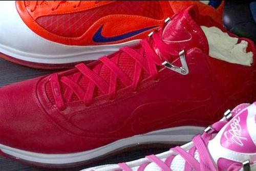 Unseen Nike Air Max LeBron VII 8220Red amp White8221 PE