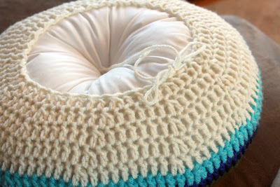 "IMG 7783 picnik Easy Striped (16"") Round Pillow Crochet Pattern"