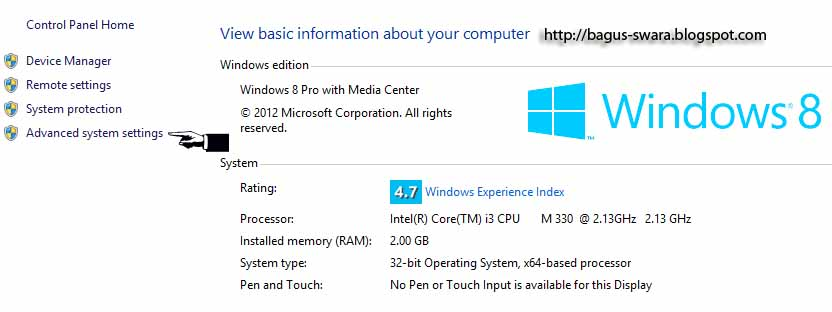 Increase the size of virtual memory in windows8