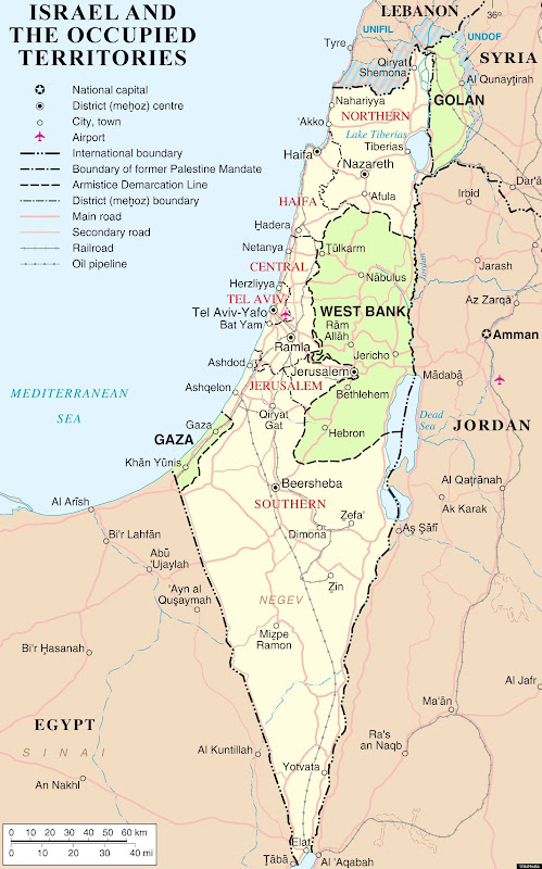 Map Palestine - Israel 1967