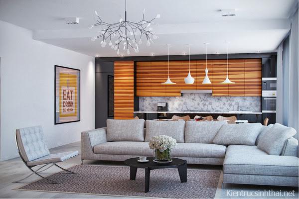 Mẫu nội thất căn hộ chung cư nghệ thuật .