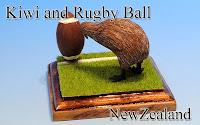 Kiwi & Rugby Ball -New Zealand-